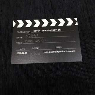 SEVENTEEN DIRECTOR'S CUT HOSHI BUSINESS CARD
