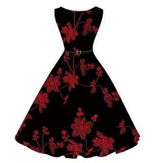 Vintage Retro 60s/50s Pinup Audrey Hepburn Style Dress