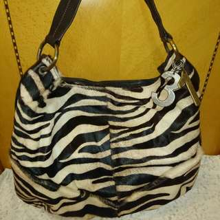 💞💖CONNIE NZ BRAND Zebra Pattern Leather Bag