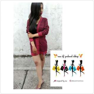 OBRAL!! Mini Dress Red Black
