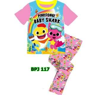 Baby Shark rainbow sleep wear set