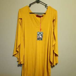 New dress mustard colour