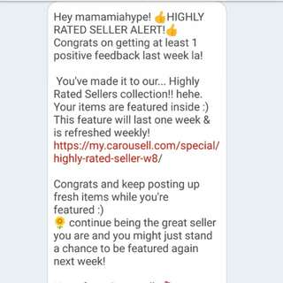 High rated seller achievement !