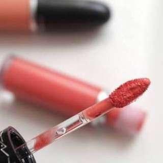 mac rich and restless retro matte liquid lipcolour