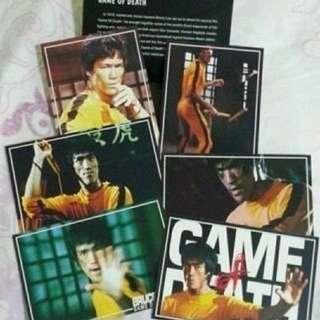 電影《死亡遊戲》明信片一套六張連精美紙套(彩色)Bruce Lee 李小龍