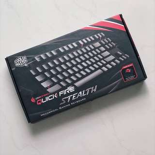 Coolermaster CMStorm QuickFire Stealth Mechanical Keyboard (Red Switch)