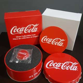 2018 COCA COLA bottle cap 6g Silver Proof Coin