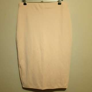 Missguided dusty pink skirt