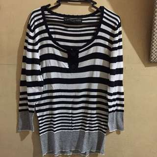 Striped Pullover + Butterfly Top