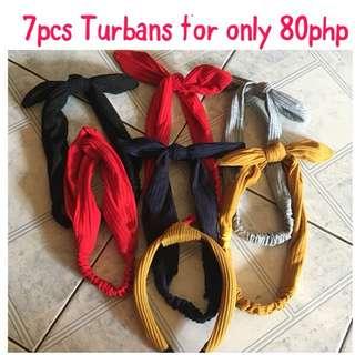 7pcs 80php Turbans