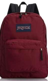 Dark red jansport bag pack🎒,, normal sizes