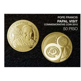 Pope Francis Commemorative Coin 50