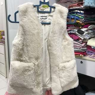 Zara fur vest for girl
