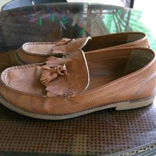 TOPMAN Leather Shoes (Brown, Size - 8 US)