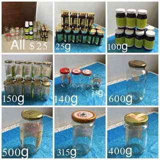 Set Of 50 Recycle Glass Container