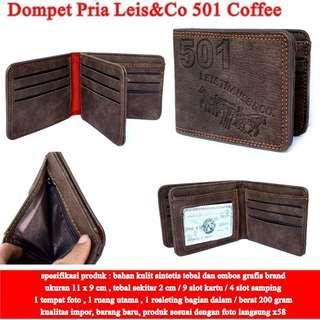 Dompet Kulit Pria Leis&Co  501 COFFEE