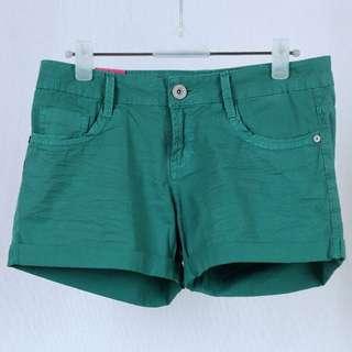 Ninety Degrees Jeans Green Premium Denim Short Pants/Hot Pants