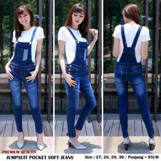 Jumpsuit pocket soft jeans