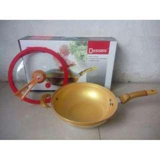Vacuum Relief Pan Dessini Hemat Energi Panci Semi Presto Gold Pan