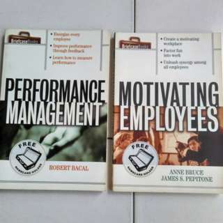 Motivating Employees, Performance Management (2 books-$5)