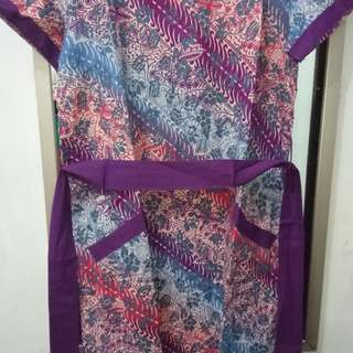 Mini Dress Batik Ungu Merk Mint