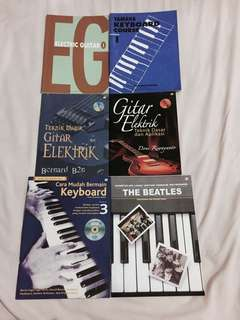 MUSIC BOOKS (keyboard & electric guitar)