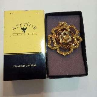 Asfour Diamond Crystal Brooch.