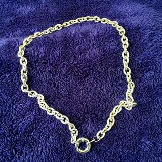 Nautical Design Stainless Silver Choker 18""