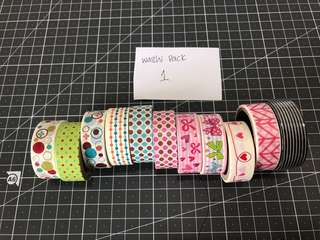 Washi Tapes Pack 1