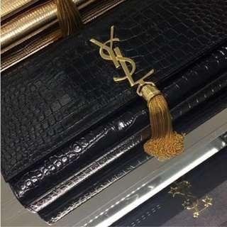 YSL 限量款Hand Bag 100%全新正貨 購自專櫃 鱷魚紋 無鏈 original price$14000