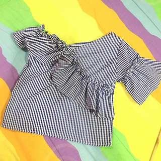 Zara inspired assymetrical top