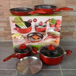 Jual Panci Set Supra Rosemary 7 Piece Cookware Warna - Warni