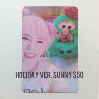 少女時代SUNNY小卡(Holiday ver.)