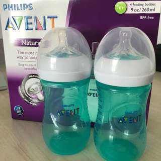 BN Avent natural bottle 260ml teal