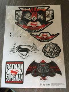 Batman v Superman: Dawn of Justice Static Sticker Set (Logo)
