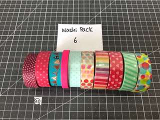 Washi Tape Pack 6