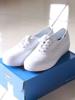 Keds White Triple Decker