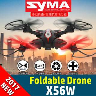 【SYMA】【X56W】100% Authentic 2017 New SYMA Drone WIFI FPV Camera Quadcopter with 2.4G 6-Axis free 2 battery