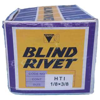 "Aluminum Blind rivets 1/8"" x 3/8"" (1000pcs per box)"