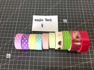 Washi Tape Pack 8