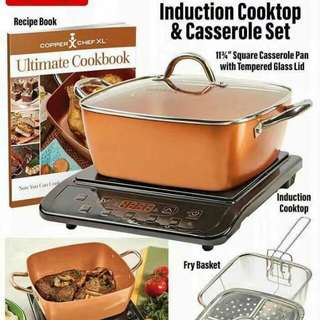Induction cooktop & casseroLe set