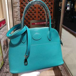 Hermes bolide 27 turquoise