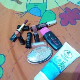 Lisptick-foundation-eyeshadow-blusher-lulur wajah-mascara