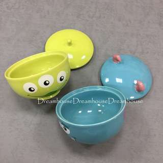 東京迪士尼 三眼怪 毛怪 造型 陶瓷 湯碗 碗 碗公 附蓋子