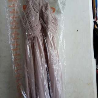 Midi glamour party dress ( Dress pesta) soft pink