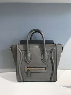 Celine nano lugage Smooth leather grey