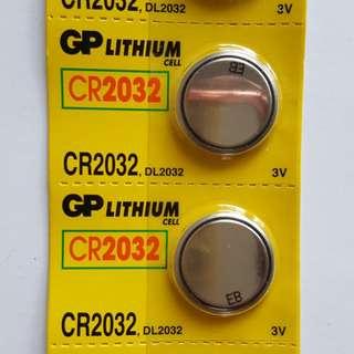 GP LITHIUM CELL CR2032 3V 電力強勁耐用鈕型電池