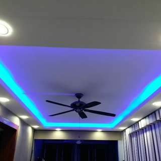 Cornice with led lights and coff lights
