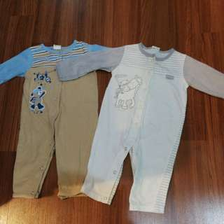 Baby Sleepsuits 3-6mths