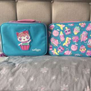 Smiggle Says Square Lunch Box (Blue)